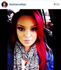 Red Hair Zebra Print Scarf  Follow on Instagram @desiraevallejo