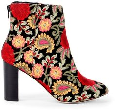 Olympia Embroidered Bootie