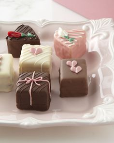 Delightfully decorated, made-from-scratch, bite-size cakes are a sweet treat for that someone special.
