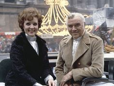Macy's Thanksgiving Day Parade  MACY'S THANKSGIVING DAY PARADE -- Pictured: (l-r) Hosts Betty White and Lorne Greene during the 1968 Macy's Thanksgiving Day Parade -- Photo by: NBCU Photo Bank