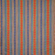 Royal Blue Stripe  Poly Cotton Fabric 45 inches wide