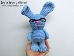 Amigurumi Bunny with Glasses - FREE Crochet Pattern / Tutorial by Amigurumi To Go