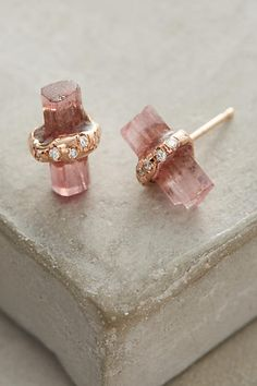 Diamond-Wrapped Crystal Studs