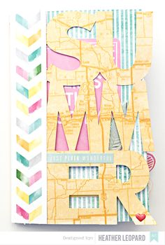 Summer Mini Album Tutorial and Free Cut File by HeatherLeopard at @studio_calico