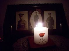 Annette Hagley's candle #LightsOut #WeRemember #WW1