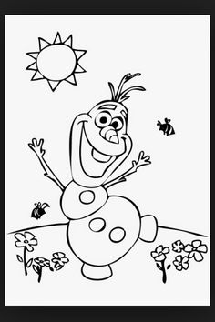Olaf Coloring Pages Online. olaf coloring pages free online printable  sheets for kids Get the latest images favorite to print Frozen Free Coloring Page of Olaf finding a flower with trees