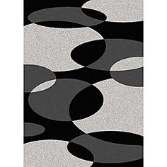 @Overstock - Make a statement with this geometric contemporary rug. This rug is stain-resistant olefin will ensure that it is easy to clean. Patterned with black, gray, and silver circles, the abstract design will add a modern feel to your room.http://www.overstock.com/Home-Garden/Brilliance-Circles-Area-Rug-55-x-77/6220551/product.html?CID=214117 $119.49
