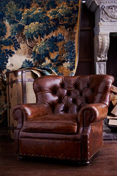 Ralph Lauren Home - like this chair styleRalph Lauren, Living Room, English Coun. - Ralph Lauren Home – like this chair styleRalph Lauren, Living Room, English Coun… – Ralph La - Decor, Furniture, Leather Furniture, Leather Club Chairs, Club Chairs, Chair, Leather Chair, Ottoman Furniture, Ralph Lauren Home