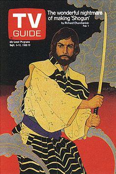 """Richard Amsel TV Guide Cover, September 6, 1980, """"Richard Chamberlain / Shogun"""""""