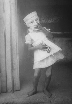 Masked child #vintage #photography