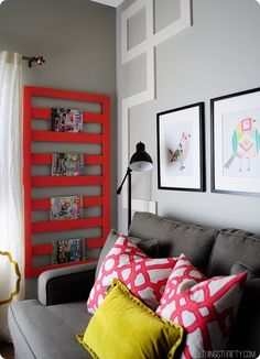 love the look...love the colors...love the magazine rack...