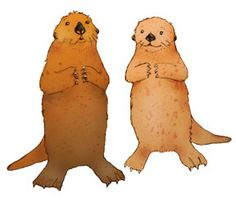 otters by Marilyn Scott-Waters -- pdf files for Charles and Brook Otter (seen her nekked), paperdoll costumes, map of their home, and storybook.... I used to print and cut these before I got a Cricut.  Now that I come back, they are even more charming!