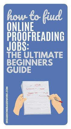 Proofreaders are in high demand!  If you are new to proofreading this beginner guide will help!  #proofreading #jobs #workathome