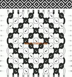 Normal Pattern #10412 added by CWillard - Diamonds friendship bracelet