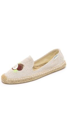Soludos Lime & Coconut Smoking Slipper Espadrilles | SHOPBOP SAVE UP TO 25% Use Code: BIGEVENT16