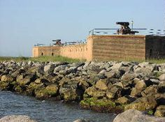 Historic Fort Gaines is located on the east end of Dauphin Island, near the mouth of Mobile Bay
