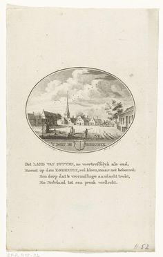 Anna Catharina Brouwer | Gezicht op het dorpsplein van Goudswaard, Anna Catharina Brouwer, 1791 - 1793 |