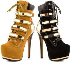 ziginy timberland heels black