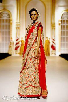 Pallavi Jaikishan red bridal lehenga