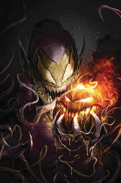 The Amazing Spider-Man Venomized Green Goblin Variant Cover by Francesco Mattina Marvel Comic Books, Comic Book Characters, Comic Books Art, Comic Character, Comic Art, Tmnt Characters, Marvel Venom, Marvel Villains, Marvel Vs