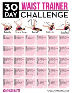 Join the 30 Day Waist Trainer Challenge!! If you want a tighter waist and if you want to create a natural hourglass figure, then you don't need to buy a waist trainer...just do these 5 moves! Print out this challenge now! It's only 30 days and s