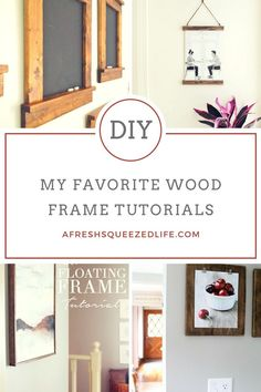 A handmade wood frame is a perfect way to add some farmhouse charm to your home. Let me show you my favorite wood frame tutorials!