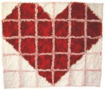 heart rag quilt...think it would be neat to actually be in a heart shape