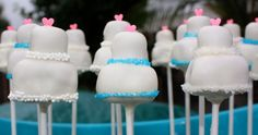 wedding cake, cake pops