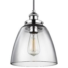 The antiquated lighting style armed and surrounded with sleek modernization, the Feiss Baskin Dome Nickel Pendant revives the industrial era with a contemporary look. A fine steel exterior base gives the Baskin Dome Nickel Pendant a new-age feel, which works in direct contrast to the vintage filament bulb at the center. Surrounding the focal point is thick clear glass made durable for extra protection. Line several Baskins together for efficient task or island lighting.