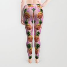 Juicy pineapple leggings - Back http://society6.com/product/juicy-pineapple-2jk_wall-clock#33=283&34=285