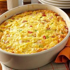 No-Turn Omelet. May be prepared in advance, covered and refrigerated overnight. Remove from the refrigerator 30 minutes before baking.