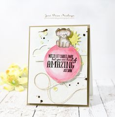 Joni Andaya for WPlus9 featuring Unforgettable stamp set and Sending Sunshine dies.