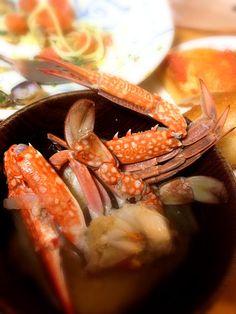 実母の手料理ごちそうさま! - 6件のもぐもぐ - ワタリガニの味噌汁と菜の花トマトパスタ by yunanami