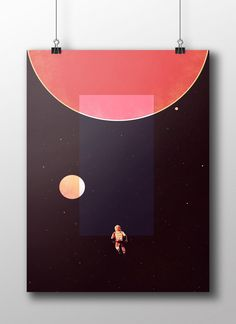 """Artist:<strong>Tom Haugomat</strong>Screen printed poster inspired by the novel written by Arthur C. Clarke and the famous movie directed by Stanley Kubrick, 2001: A Space Odyssey.• 3 colors screen print • Limited edition of 75 • Size: 18""""x 24"""" (45,7cm x 61cm) • Printed by Les Belges • Paper: Fischer Galerie Image 235gsm • Signed and numbered by the artist (with a certificate of authenticity)Please contact us at contact@epic-arprints.com i..."""