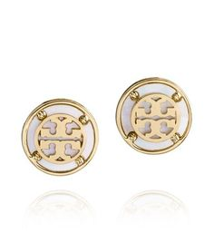 Wren Logo Button Earring | Womens Earrings & Rings | ToryBurch.com
