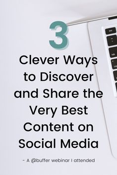 Have you ever attended a webinar?  A few years back now I attended a webinar run by @buffer. And needless to say, I learnt a thing or two (or three or four).  In the first webinar, the team at Buffer talked about curating the content that you share online.  The main 3 steps for finding the very best content for social media are: 💻 Discover 💻 Read 💻 Share