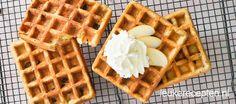 Makkelijk wafelrecept met de smaak en geur van verse appeltaart