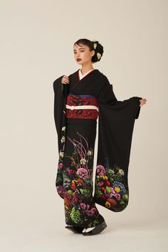 Ethnic Fashion, Kimono Fashion, Asian Fashion, Kimono Japan, Japanese Kimono, Traditional Kimono, Traditional Outfits, Japanese Outfits, Japanese Fashion