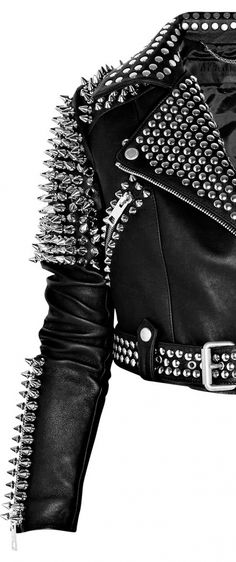 Burberry Studded Biker Jacket. Omg I would totally rock this. Dont know when- but even if I had to wear it to the grocery store- I want it!!! Lol