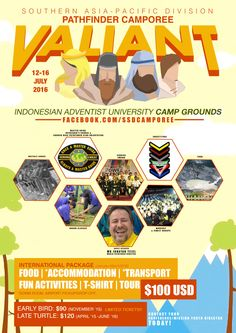 The Second Southern Asia-Pacific Division Pathfinder Camporee is just months away! On July 12-16, 2016, the SSD Youth Department will host an International Camporee at the UNAI, Bandung, Indonesia. We hope to see you there!You can view ourCamporee Fact Sheet (The Need To Knows) here. And you can download the Application From here.And for those who are not currently part of any Pathfinder Club and is over the age of 18 can apply online here. (Independent applicants will need to pay via bank…