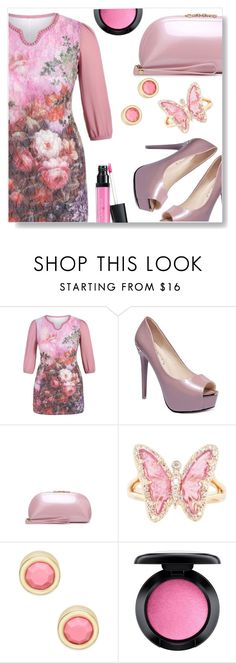 """""""Lady in pink"""" by simona-altobelli ❤ liked on Polyvore featuring Luna Skye, Marc by Marc Jacobs, MAC Cosmetics and Laura Geller"""