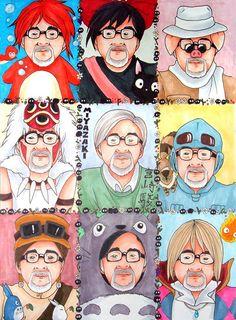 """kagurazakaundergroundresistance:  mcsgsym:  kanmei:  hikariyue:   elephantinthepicture:  hayao-miyazaki:  gengar  Miyazaki as his characters. Oh my, I'm dying.  (via detectivetrap)  """