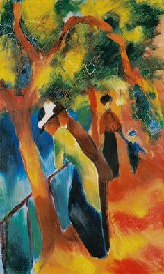 Sunny Way - August Macke (Germany 1887-1914)