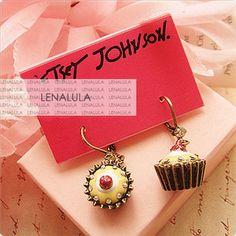 Betsey Johnson Cupcake Drop Earrings