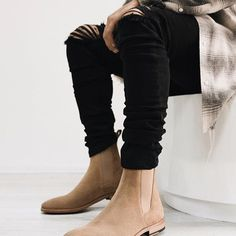 The Wolf Black Denim paired with The Classic Tan Chelsea Boots. fill out the blank. Tan Chelsea Boots, Wolf Black, Classic Tan, Bollywood Fashion, Black Denim, Men's Style, Fill, Menswear, Mens Fashion