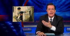 The Colbert Report, May 16, 2013. Stephen Colbert alludes to The Adventures of Tom Sawyer, specifically the scene in which Tom dupes his friend Huck Finn into whitewashing a fence, when he comments on China's recent attempts at initiating peace in the Middle East.