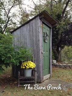 Outhouse fall decorating