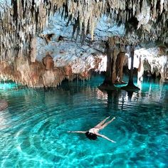 Cenotes Sac Actun, Mexico http://instagram.com/p/oyt2cmA0s9/?modal=true This was so cool we went there while in cancun