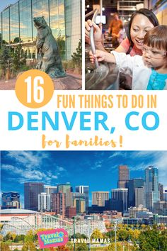 Discover all the fun there is for families in Denver, CO! This list of 16 kid-friendly activities in Colorado's capital will appeal to children and teens of all ages, as well as parents. From outdoor play, animal-viewing, museums and a theme park -- there's something for everyone. #colorado #denver #travelwithkids #familytravel