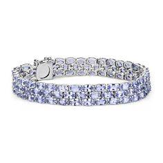 Trio Oval Tanzanite Bracelet in Sterling Silver  - Beautiful